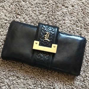 L.A.M.B. Black leather wallet
